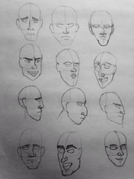 Head practice  by CornBreadK