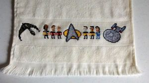 Star Trek:TNG geeky towel by starrley