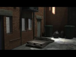 final alley scene by saChicals