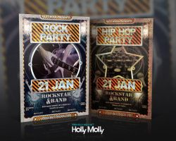 Rock and Hiphop Flyer with tickets by imagingdc