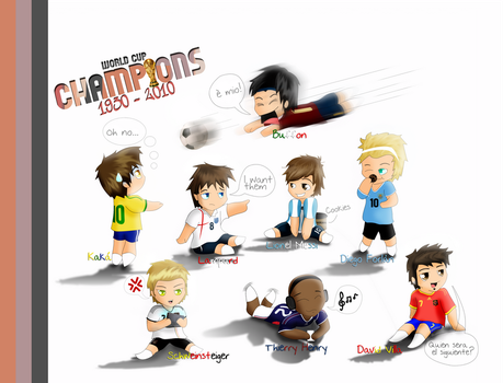 World Cup Champions 1930-2010 by Camizong