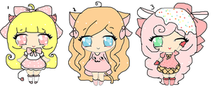 Sweet adopts~closed by Chibii-chii