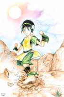 Toph, The best Earthbender by Darukii