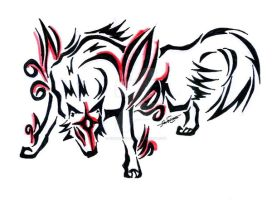 Okami tattoo 3 by Northwolf89