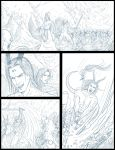 Ky and Erias VS the Ghouls page (sketch) by Destinyfall