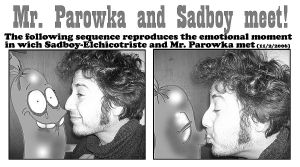 Mr. Parowka and Sadboy meet by Sadboy-Elchicotriste