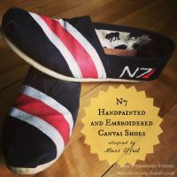 N7 Hand Painted and Embroidered Canvas Shoes by lumistormborn