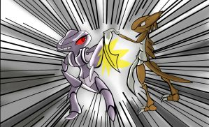 Kabutops Vs. Genesect by Shadow-Pikachu6