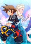 Sora and Elsa by LazyTurtle