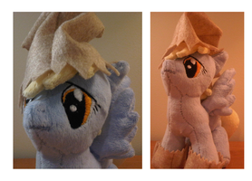 Plushy Commision: Nightmare Night Derpy Hooves by caashley
