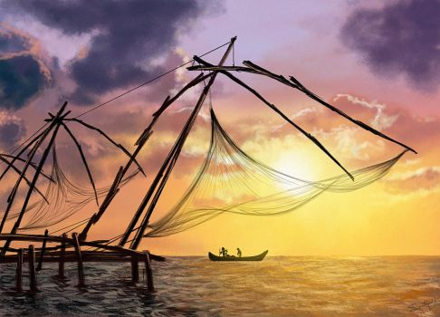 Chinese Fishing Nets-speedpaint by S-A--K-I