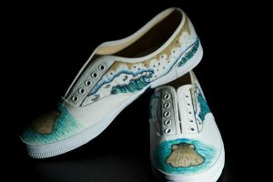 Ocean Themed Shoe Design by WayfaringPuma