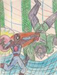Cosmic Spider-Man vs. Kang The Conqueror by derekwc