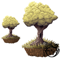 Pixel Tree by vangelisgenesis