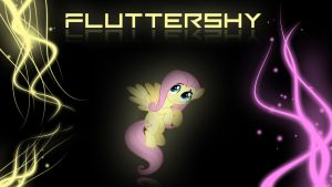 Fluttershy Wallpaper 5 by Amoagtasaloquendo