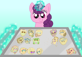 Pony-Shaped Cookies by CrazyNutBob