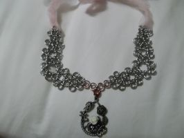 OOAK chainmaille metal collar by lunabellvarga