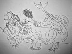 Tyros vs the Beast from Below by Saberrex