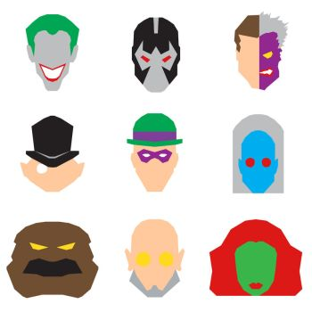 Batman Villains Icons by mattmagargee