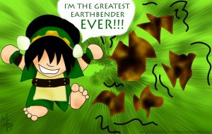 Toph chibified by mon-mothma