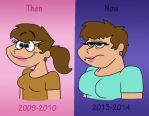 Then vs Now by Cookie-Lovey