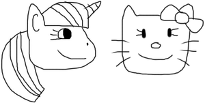 Hello Kitty and Twilight Sparkle by jacobyel