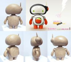Sushibot preliminary sculpt by pezbananadesign