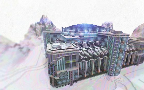 Minecraft Snow Base by skysworld