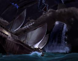 Sea Serpent by w1dowmak3r