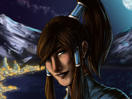 Korra Speedpaint by celestialwriter