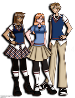 Addy, Mel, and Jake by erin-hime
