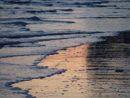 Sunset Reflected in the Waves by MCEly