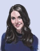 Alison Brie sketch by tonyob