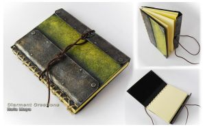 steampunk notebook moleskine by Diarment
