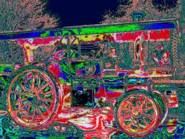 Psychedelic Traction Engine by Ommadawn