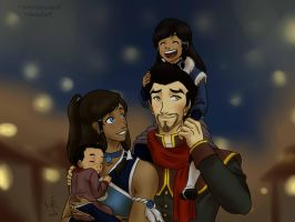 Makorra - family outing by RyokoSanBrasil