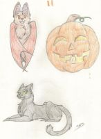 Dorm Doodle Halloween 2 by Strawberry-Wolf-1