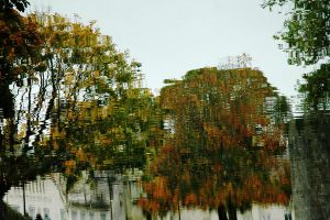 Autumn Moat Reflections by EarthHart