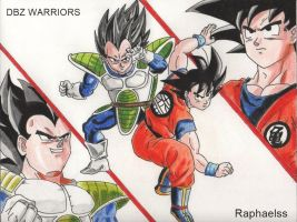 Vegeta and Goku epic battle colour by raphaelss