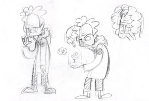 fluffy haired coat wearing time traveller by ExcentricSketches4U