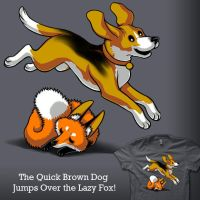 The Quick Brown Dog by amegoddess