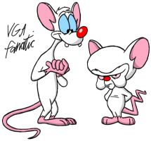Pinky and The Brain by VGAfanatic