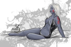 Drow pin-up by Lmih