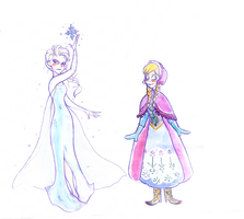 Frozen sisters by Nikepz