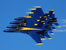 Blue Angels over San Francisco by 10000Greetings
