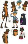 Layton Scribbles by Enigmar