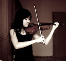 Playing The Violin by Hyenn