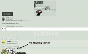Terribly Taunting Trollface by FakeHonestyTrueLie
