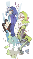 Ene and Konoha by SweetPeachlikeToxic