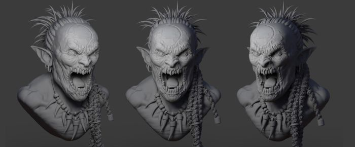 Orc head by monorok